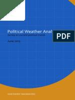 Sri Lanka Political Weather Analysis - June 2015