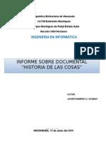 Informe Historia de Las Cosas