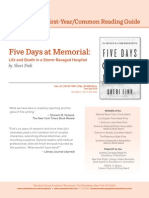 Five Days at Memorial Common Reading Guide