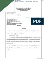 Daniels et al v. Federal Emergency Management Agency et al - Document No. 9