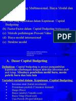 Capital Budgeting Untuk Mne