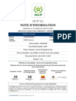 Emission Obligataire OCP