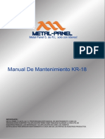 Manual de Mantenimiento Kr-18 Metal Panel