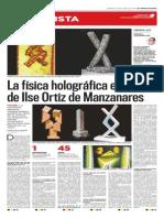 """""""La física holográfica en el arte de Ilse Ortiz de Manzanares"""" entrevista a Marcela Valdeavellano"""