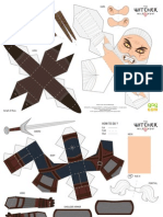 Witcher 3 Wild Hunt, The - Papertoy Geralt