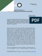 O DESENHO CONSTITUCIONAL E A PRESIDENCIALIZAÇÃO DO SISTEMA DE GOVERNO