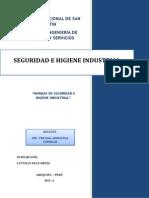 Normas de Seguridad e Higiene Industrial