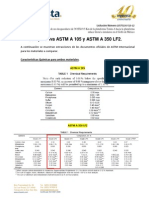 Comparativa Astm a 105 y Astm a 350 Lf2