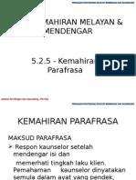 5.2.5 Kemahiran Parafrasa