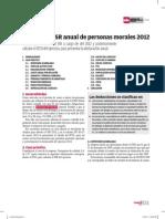Calculo Del Isr Anual de Personas Morales 2012