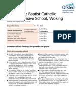 St John the Baptist Catholic-Ofsetd Report