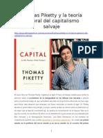Thomas Piketty y La Teoría General Del Capitalismo Salvaje