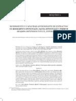 Capacidad Antioxidante Romero,Salvia Y Guayabo