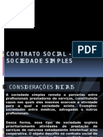 Contrato de Sociedade Simples - Slide