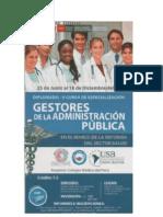 Diplomado - V Curso de especialización Gestores de La Abministracion Publica