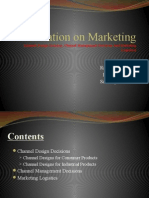 channel Design Decision, Channel Management Decisions And Marketing Logistics