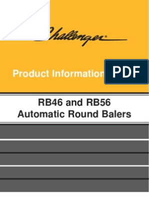 Product Information Guide: RB46 and RB56 Automatic Round Balers