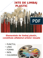 Elemente de Limbaj Plastic Punctul