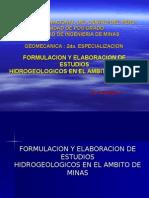 Hidrogeologia en El Ambito de Minas