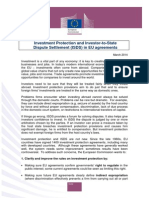 Investment Protection and Investor-to-State Dispute Settlement in EU agreements