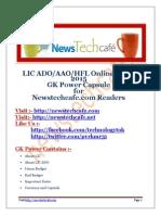 www.newstechcafe.com Lic ADO 2015 GK Capsule