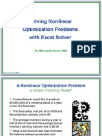 Solver Nonlinear Optimization