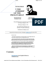 Balibar on the Dictatorship of the Proletariat