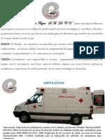 folleto de instalación de ambulancia