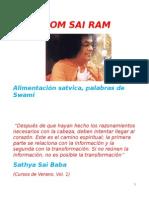 Alimentacion Satvica, palabras de Swami. Mayo 2015 Reunion C.C. y Encuentro Regional en Salta.docx