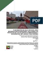 Informe Final - BICIPLAN para el Área Metropolitana de Monterrey