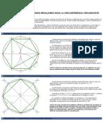 Construcciones de Polígonos Regulares Dada La Circunferencia Circunscrita