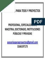 Asesorias Para Tesis y Proyectos