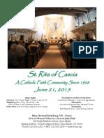 St. Rita Parish Bulletin 6/21/2015