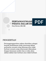 Pertanggungjawaban Pidana Islam