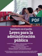 Leyes Para La Administración Pública