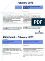 Vacancies 26 Jan 2015