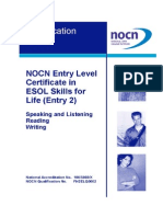 ESOL Skills for Life - Entry 2 - Qualification Guide