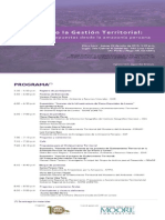 """Programa del Evento """"CONFIGURANDO LA GESTIÓN TERRITORIAL"""