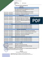 Structura An Universitar - UMF Mures