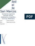 Método de Punto Fijo 2014-2