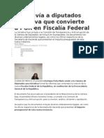 23.09.14 EPN envía a diputados iniciativa que convierte a PGR en Fiscalía Federal