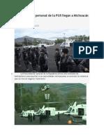 14.01.14 Helicópteros y personal de la PGR llegan a Michoacán