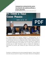 """21.01.15 """"En la PGR, trabajamos arduamente para lograr una procuración de justicia eficaz y eficiente"""" Mariana Benítez"""
