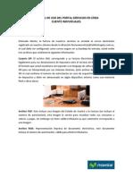 Manual de Uso Del Portal Mi Factura Individuales