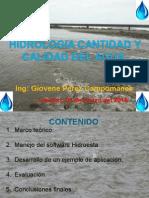PONENCIA _HIDROLOGIA CANTIDAD Y CALIDAD DE AGUA.ppt