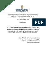 Roberto Cuenca Factores Esenciales Educacion a Distancia