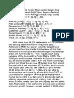 MCDs Matrix