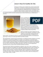 Bebida Deportiva Natural A Base De Semillas De Chia