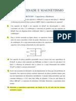 Eletricidade e Magnetismo - Exercícios Sobre Capacitores e Resistores _ Alt
