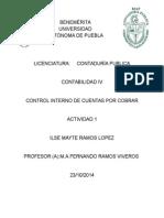 Actividad1. Control Interno de Cuentas Por Cobrar